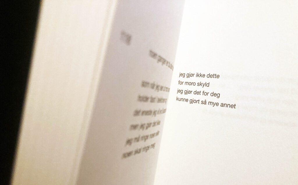 Foto av dikt av Alexander Fallo